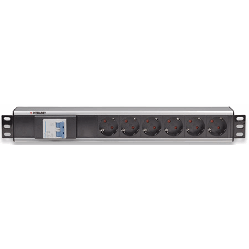 "19"" 1.5U Rackmount 6-Output Power Distribution Unit (PDU), With Double Air Switch, No Surge Protection, 1.8 m (5.9 ft.) Power Cord"