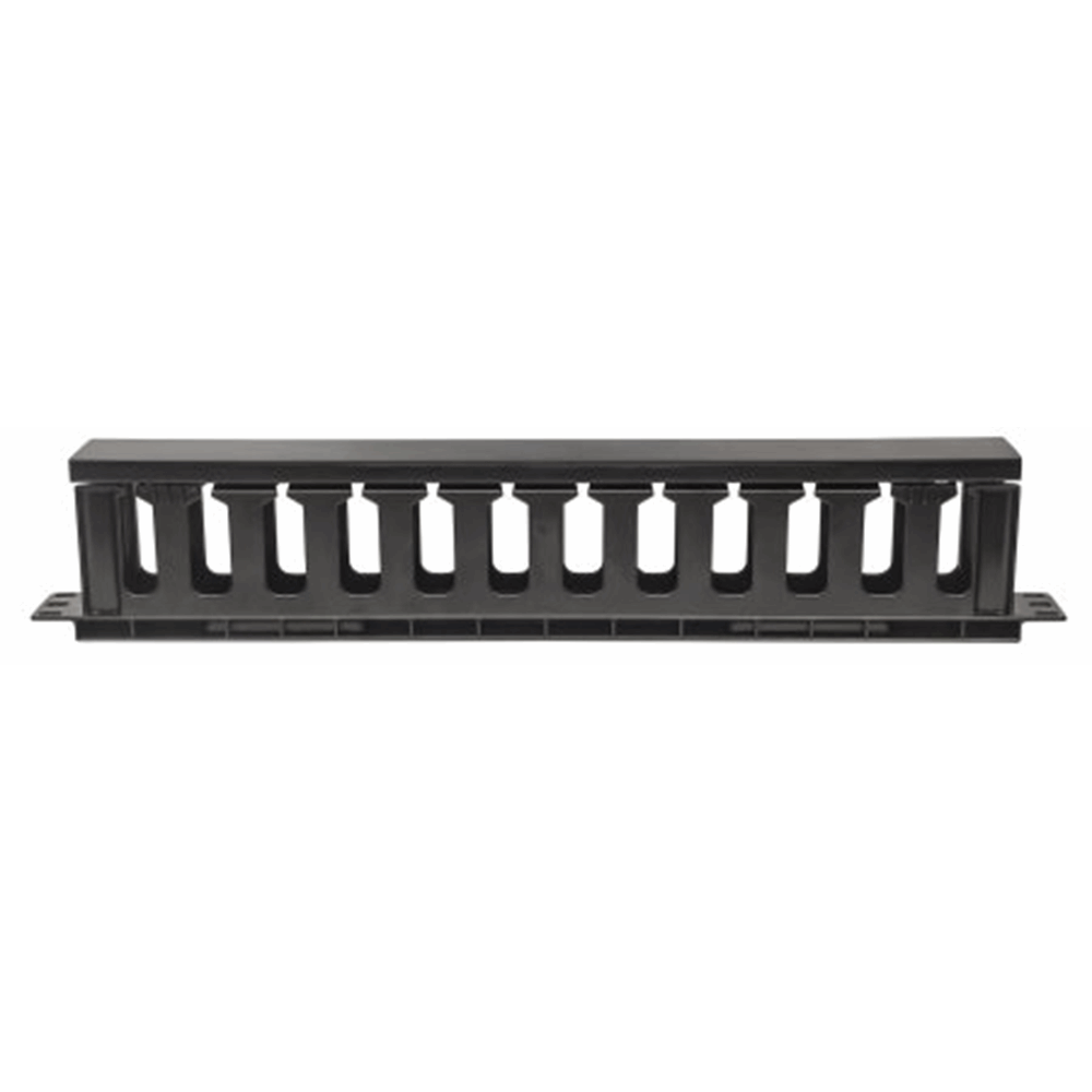 "19"" Cable Management Panel Black, 85 (L) x 485 (W) x 49 (H) [mm]"