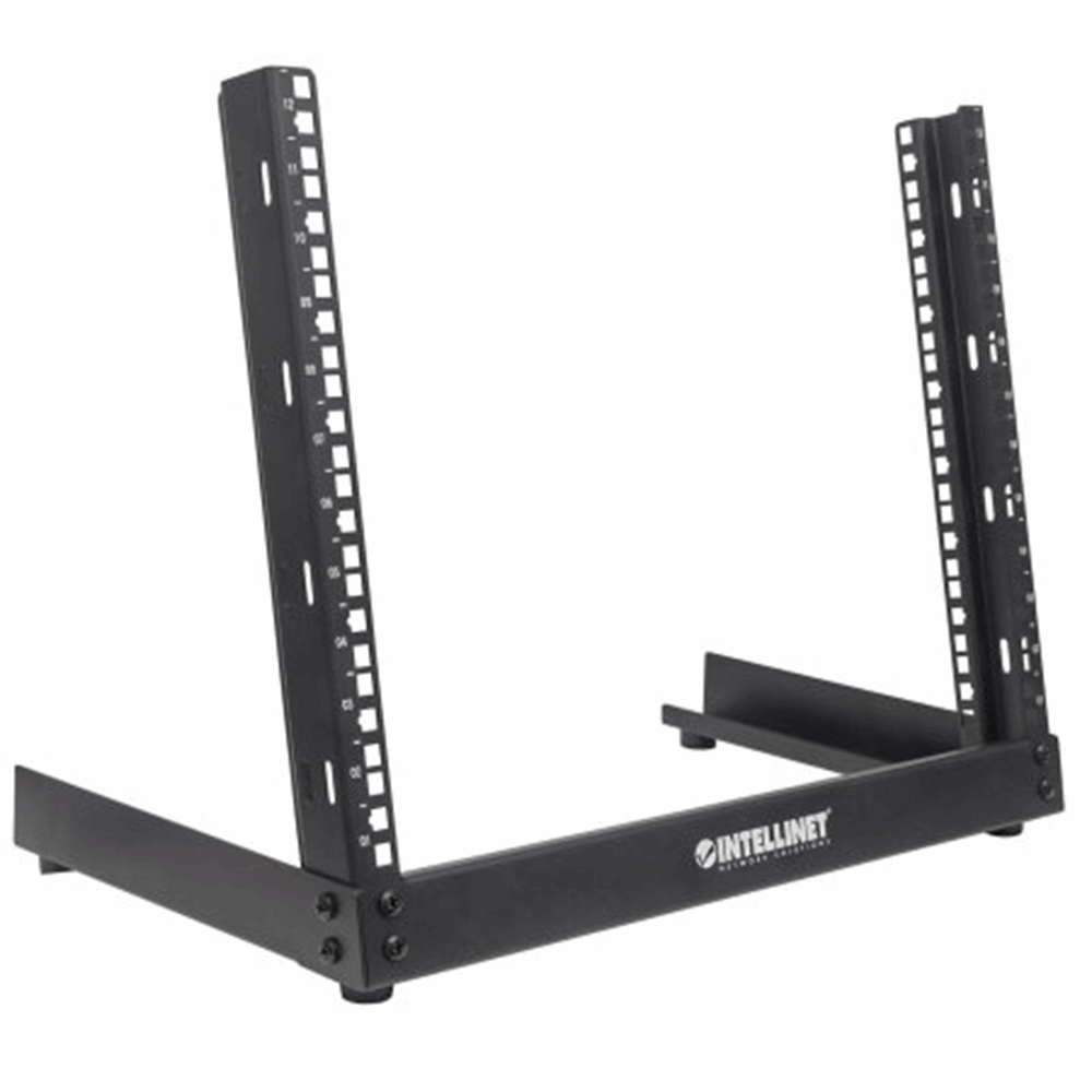 "19"" Desktop Open Frame Rack Black, 294.32 (L) x 504 (W) x 583.77 (H) [mm]"