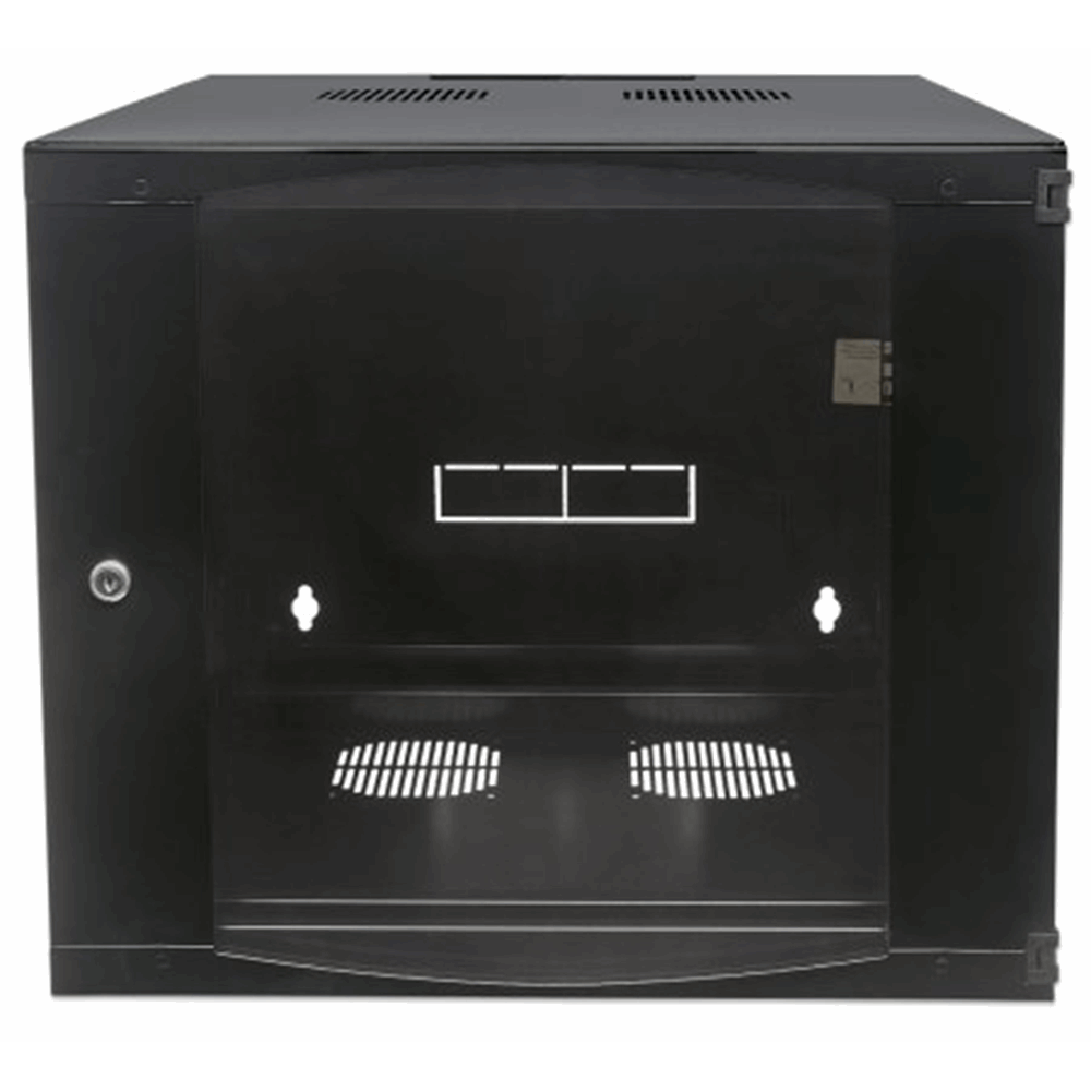 "19"" Double Section Wallmount Cabinet  Black, 450 (D) x 540 (W) x 593 (H) [mm]"