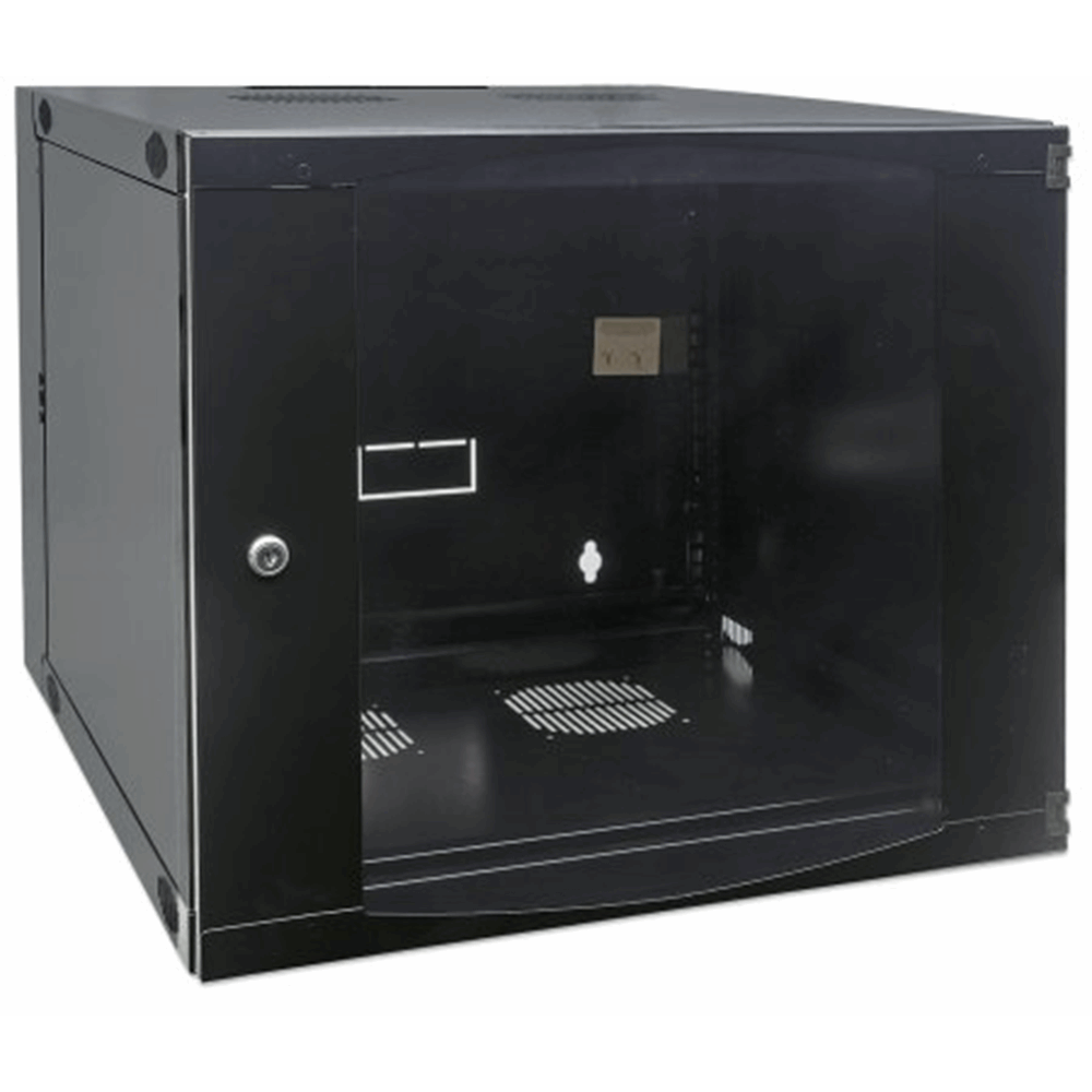 "19"" Double Section Wallmount Cabinet  Black, 450 (D) x 540 (W) x 725 (H) [mm]"