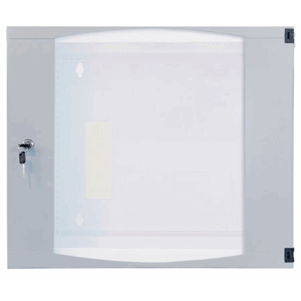 "19"" Double Section Wallmount Cabinet  Gray, 600 (D) x 540 (W) x 725 (H) [mm]"