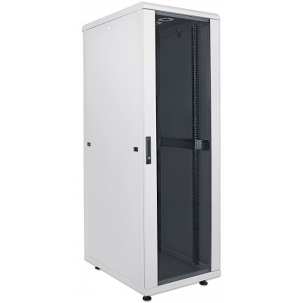 "19"" Network Cabinet, 26U,  IP20-rated housing, Flatpack, Gray"