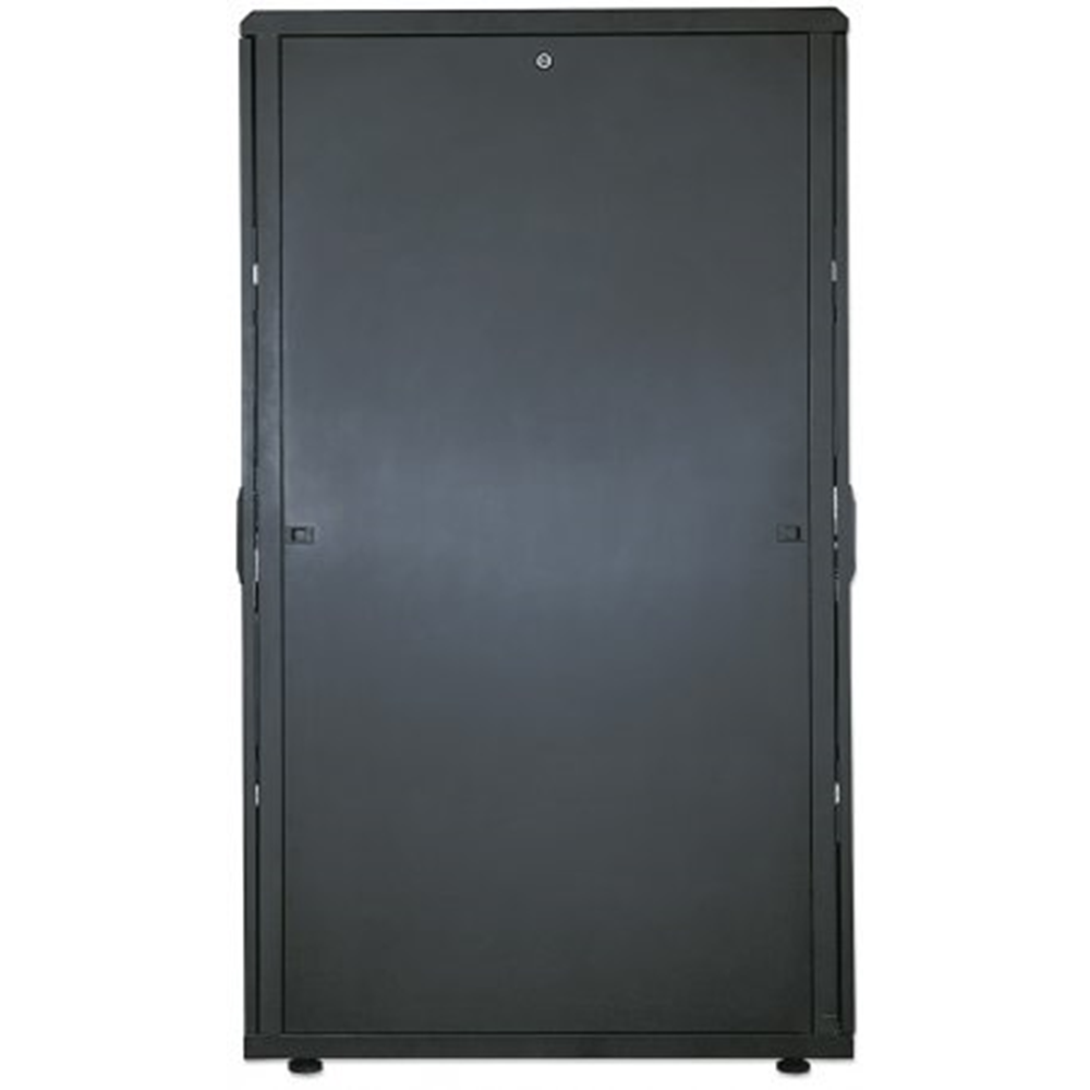 "19"" Server Cabinet, 42U, IP20-rated housing, Flatpack, Black"
