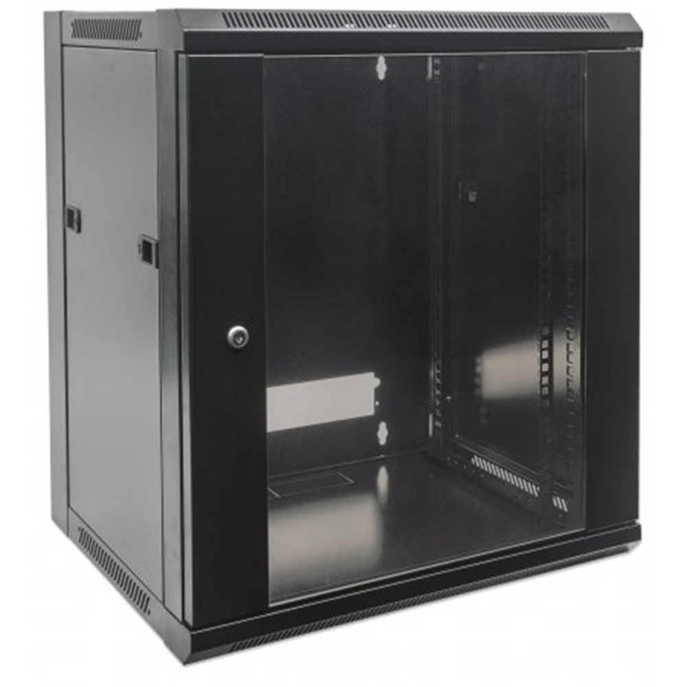 "19"" Wallmount Cabinet Black RAL9005, 500 x 570 x 450 (mm)"