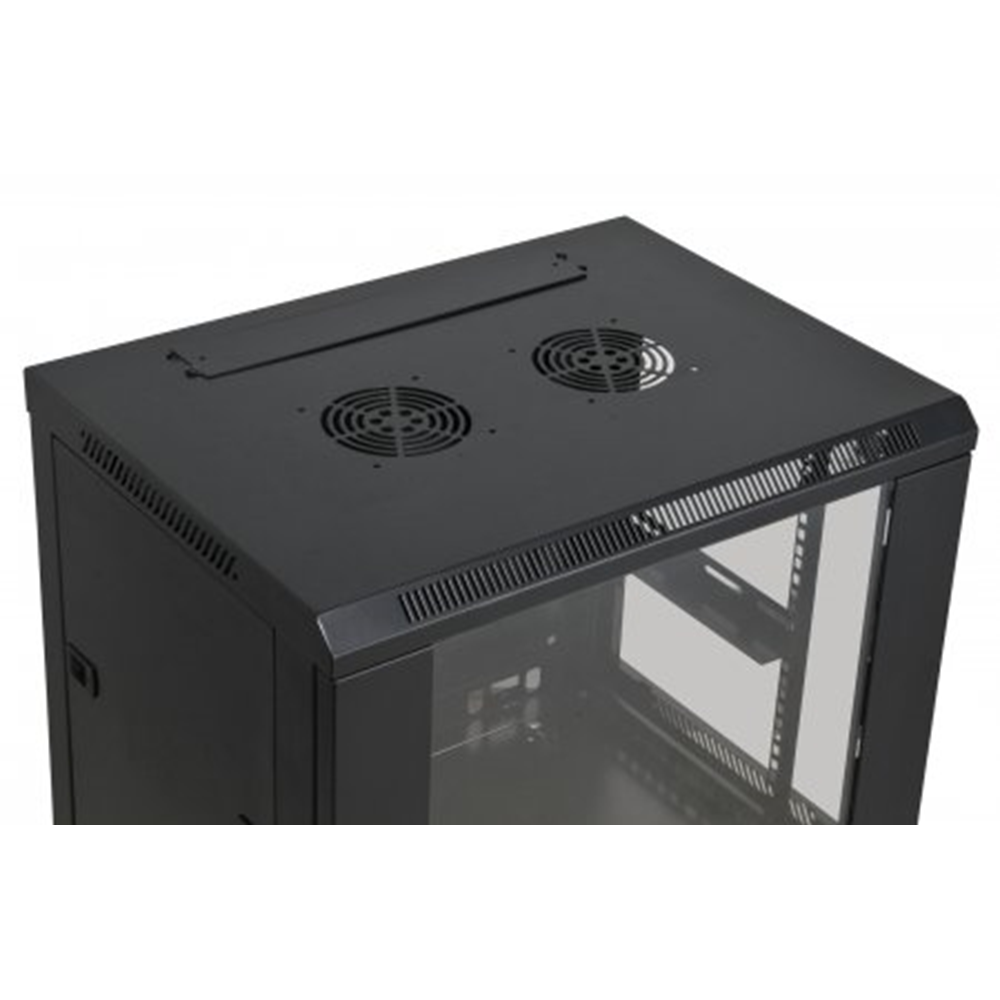 "19"" Wallmount Cabinet Black RAL9005, 500 x 600 x 450 (mm)"