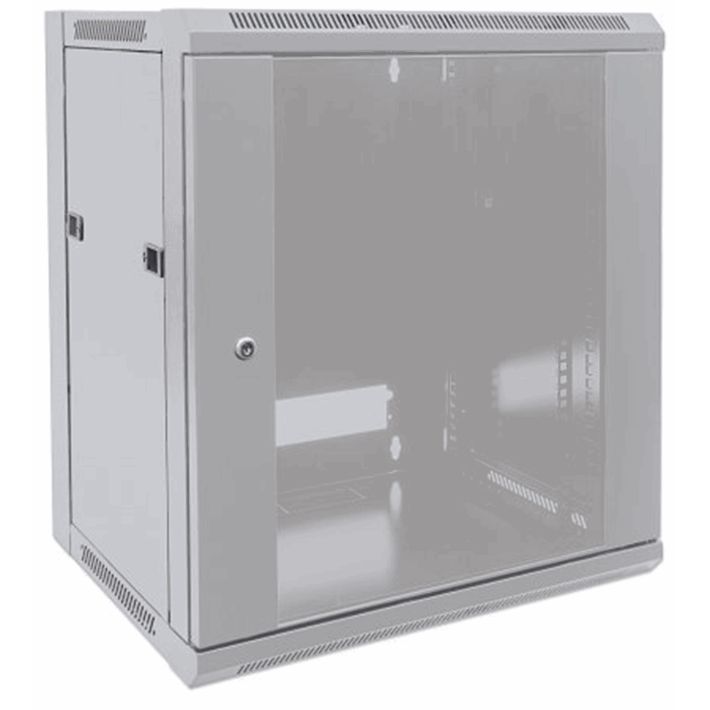 "19"" Wallmount Cabinet Gray RAL7035, 770 x 570 x 450 (mm)"