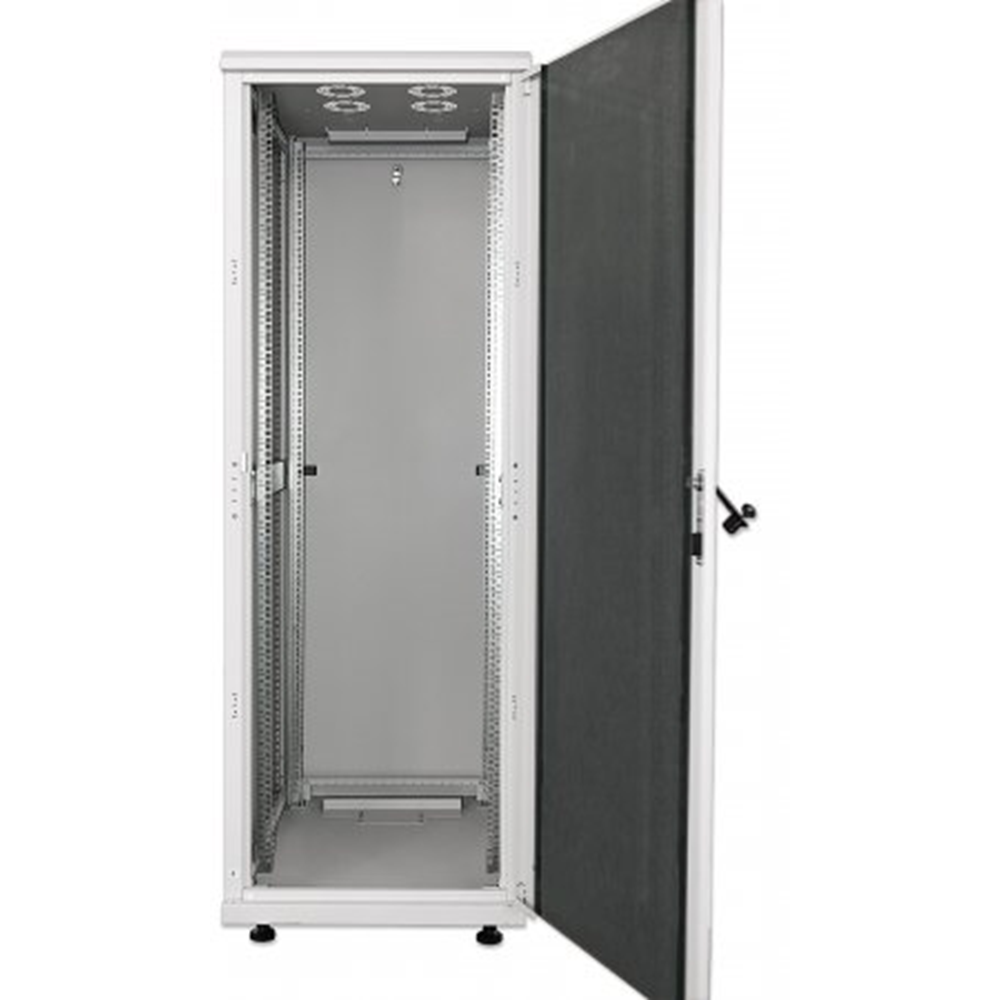 "19"" Network Cabinet, 42U, IP20-rated housing, Assembled, Gray"