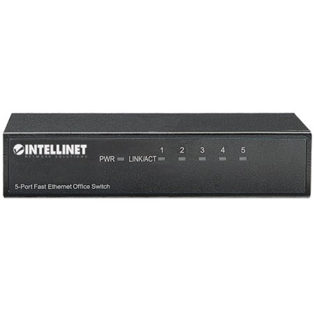 5-Port Fast Ethernet Office Switch Black