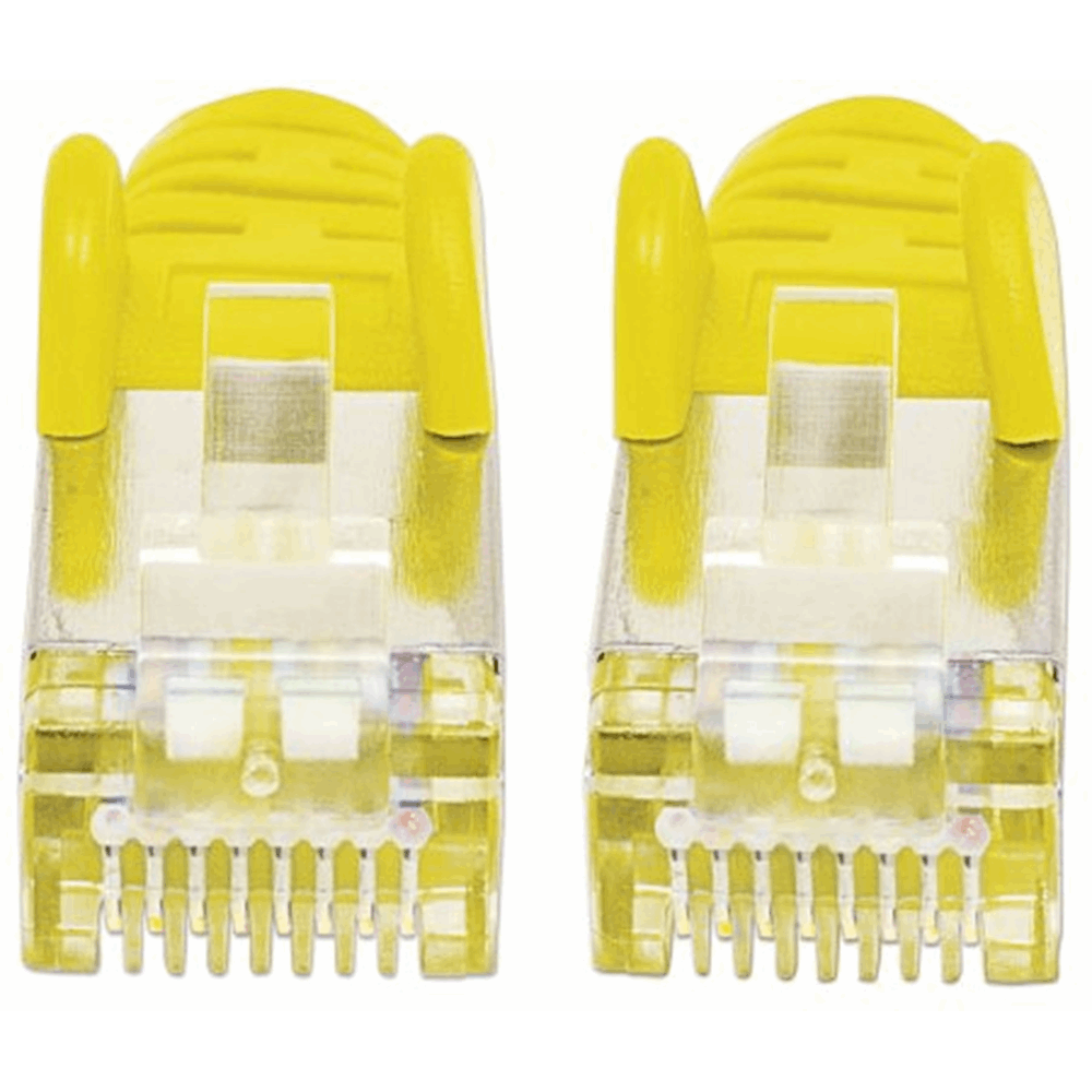 CAT6a S/FTP Network Cable Yellow, 10 m