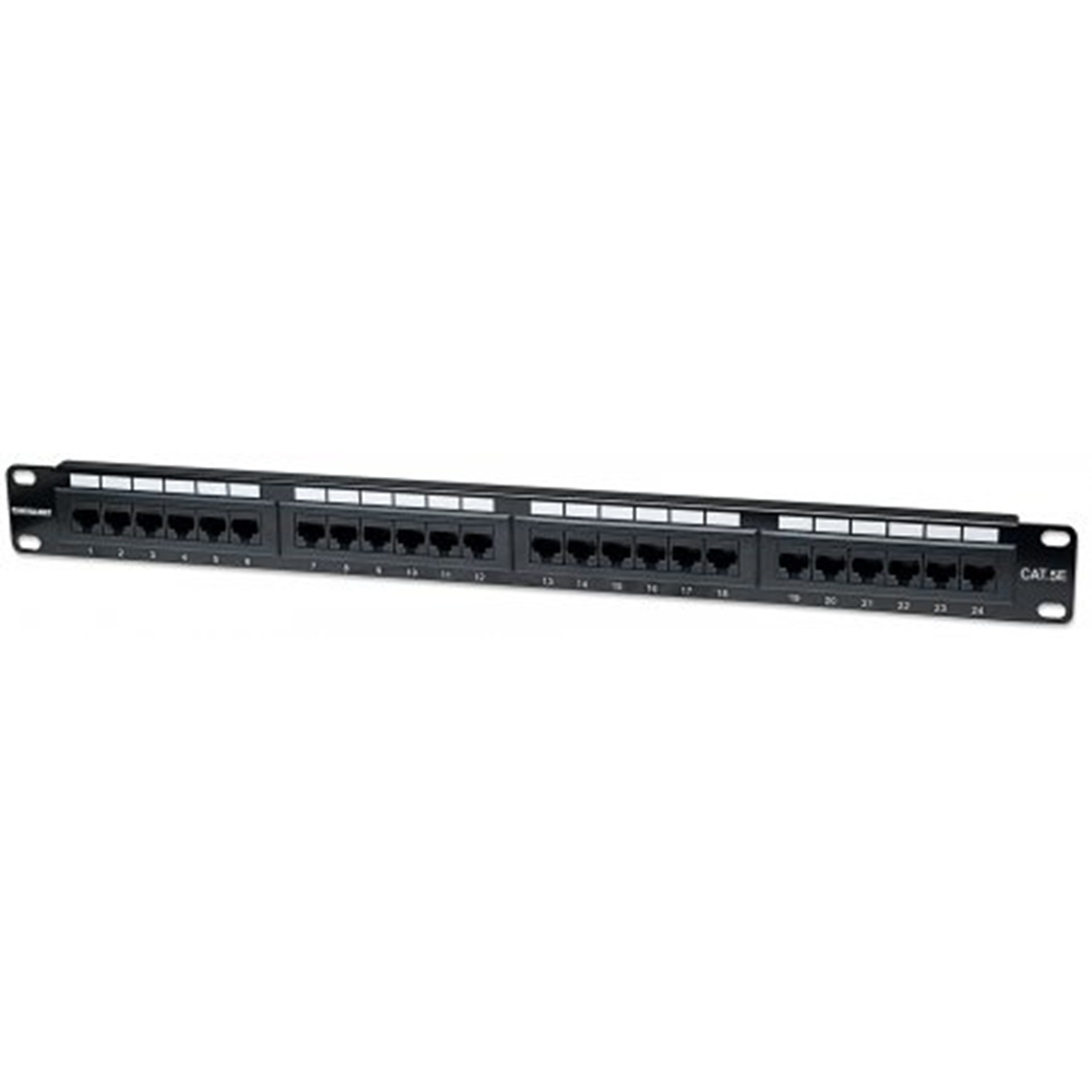 Cat5e Patch Panel, 24-Port, UTP, 1U