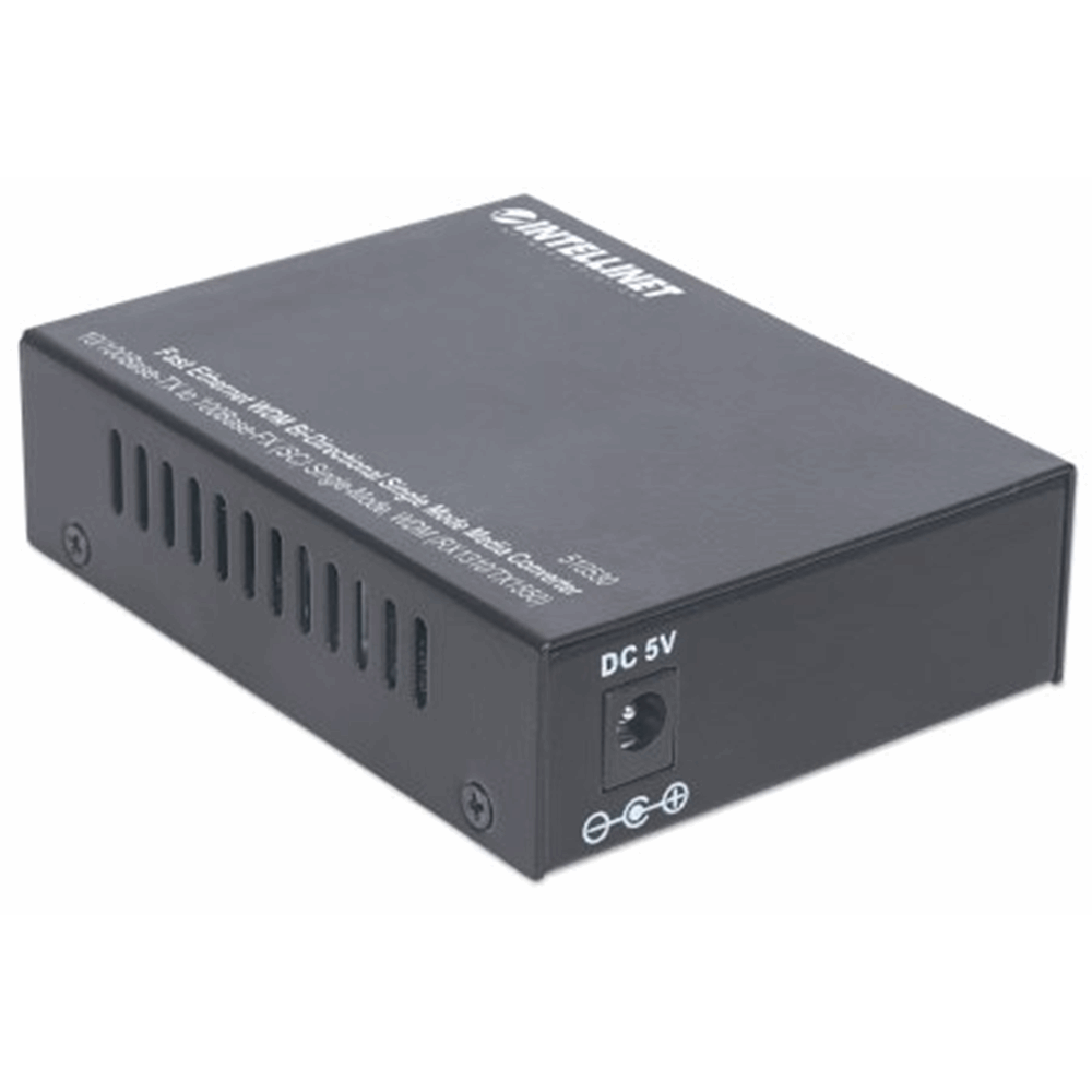 Fast Ethernet WDM Bi-Directional Single Mode Media Converter, 10/100Base-TX to 100Base-FX (SC) Single-Mode, 20 km (12.4 mi.), WDM (RX1310/TX1550)