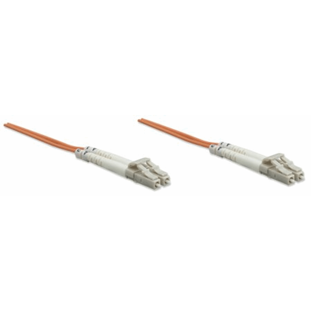 Fiber Optic Patch Cable, Duplex, Multimode, LC/LC, 62.5/125 µm, OM1, 20.0 m (66.0 ft.), Orange