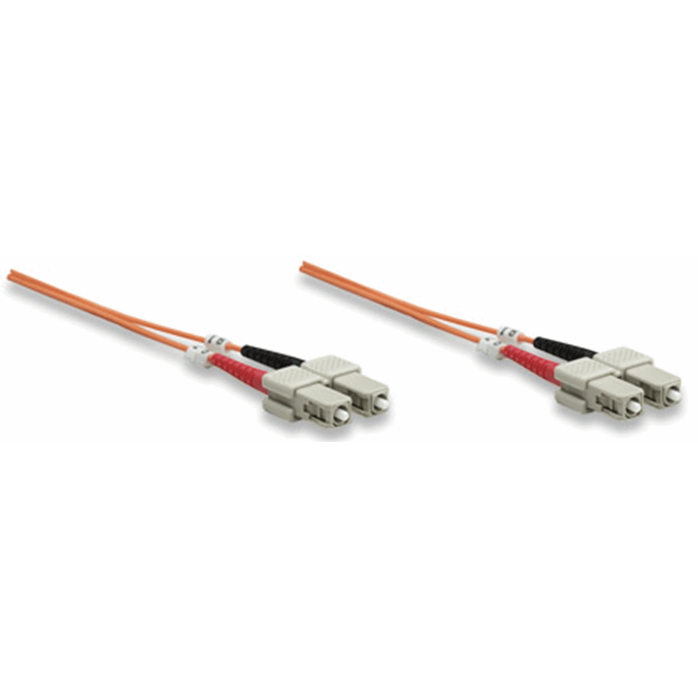 Fiber Optic Patch Cable, Duplex, Multimode, SC/SC, 62.5/125 µm, OM1, 10.0 m (33.0 ft.), Orange