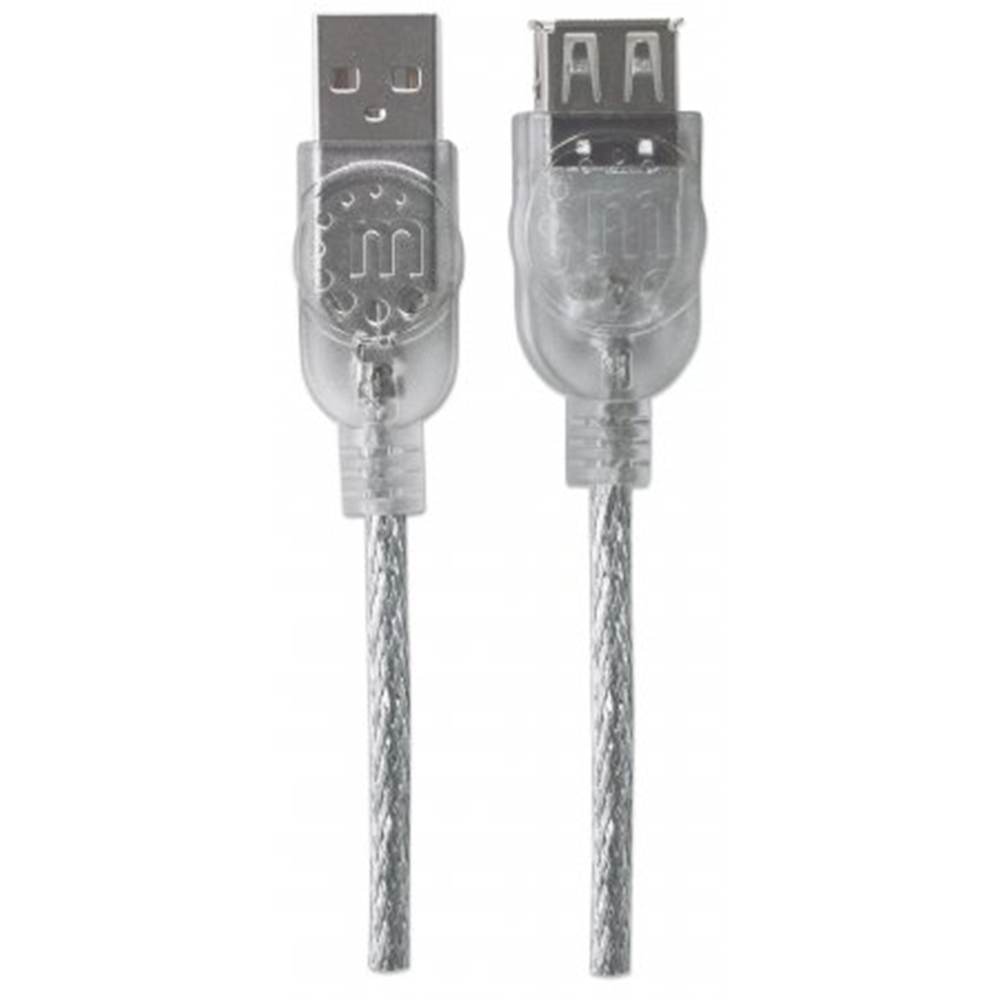 Hi-Speed USB Extension Cable Translucent Silver, 4.5 m