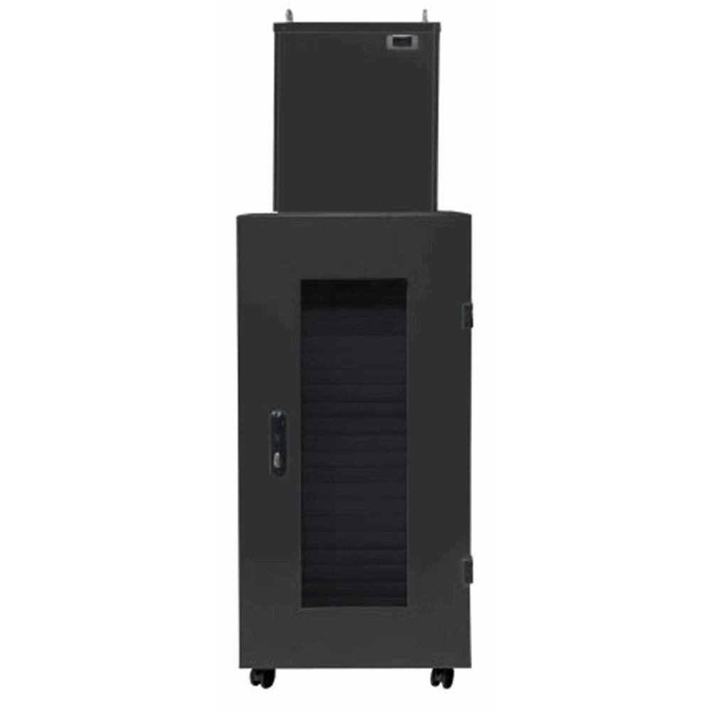"Micro Data Center, 19"", 42U, 600 x 1000 mm, IP54 Cabinet with 4 kW Cooling Unit, Black"