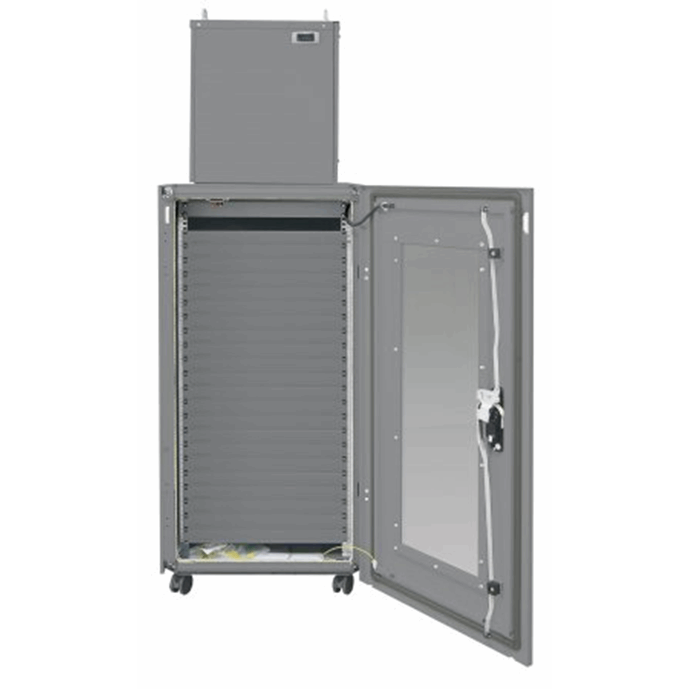 "Micro Data Center, 19"", 36U, 600 x 1000 mm, IP54 Cabinet with 2 kW Cooling Unit, Gray"