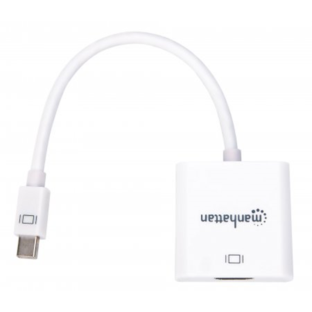 Active Mini DisplayPort to HDMI Adapter White