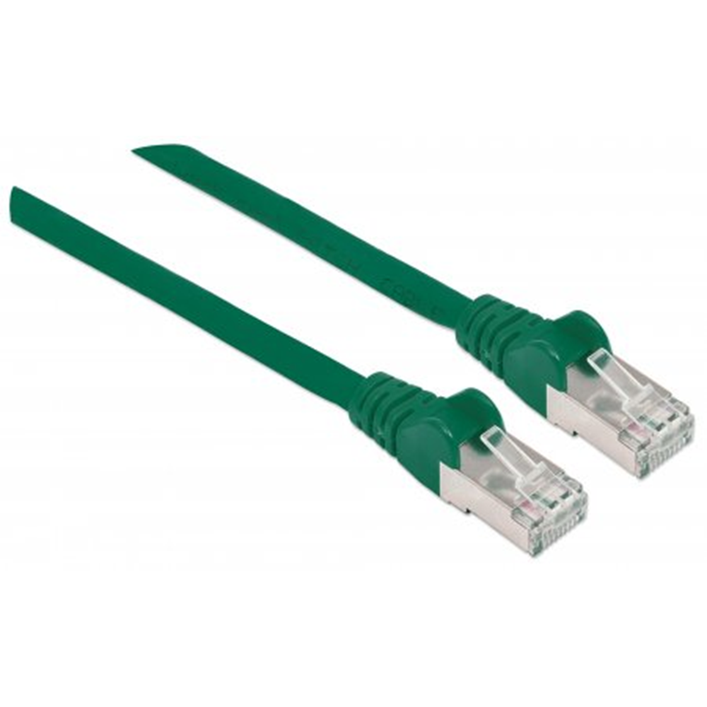 CAT6a S/FTP Network Cable Green, 10 m