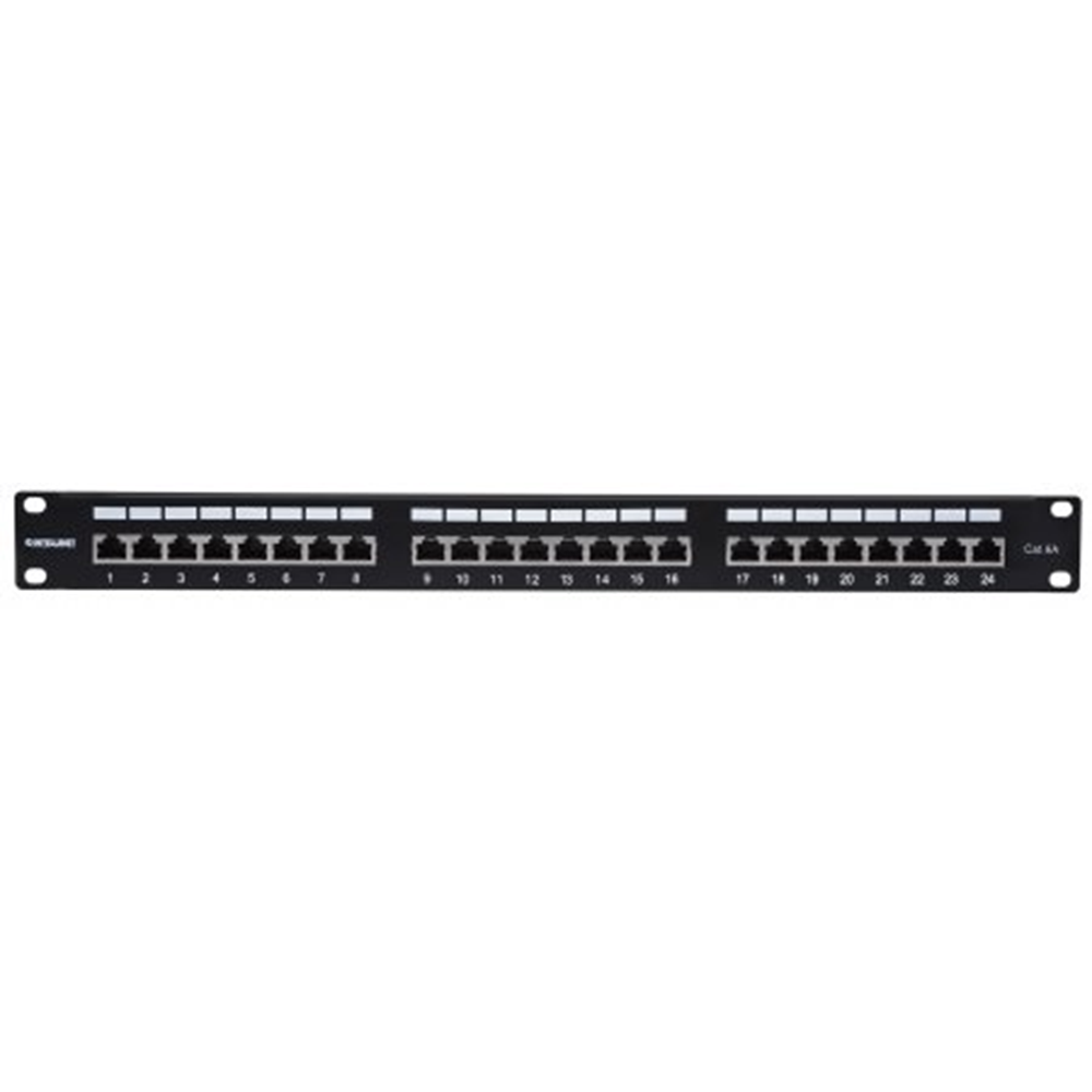 Cat6a Shielded Patch Panel Black