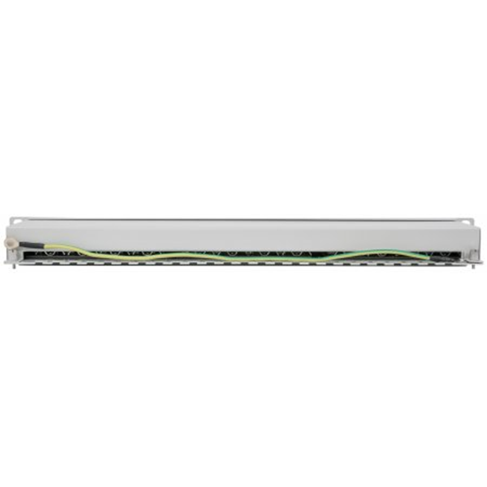 Cat6a Shielded Patch Panel Gray