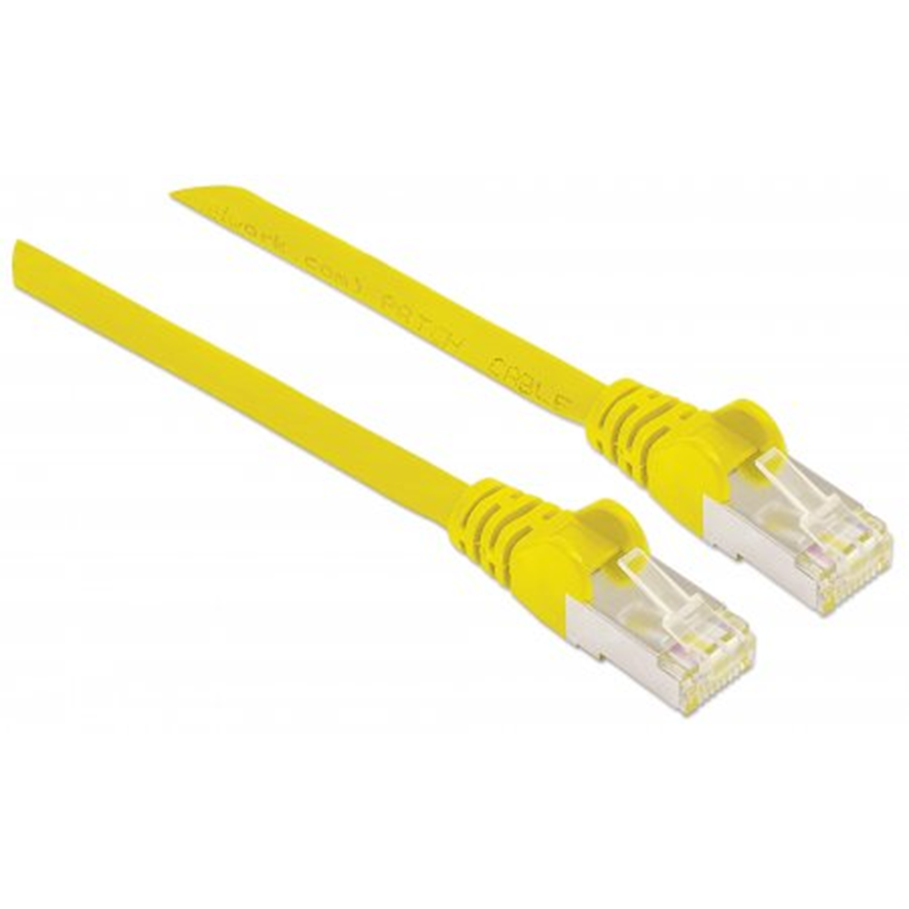 High Performance Network Cable Yellow, .25 m