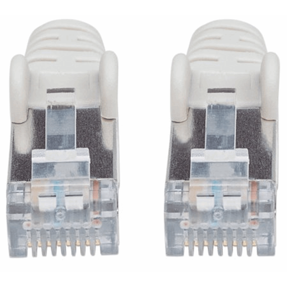 LSOH Network Cable, Cat6, SFTP, RJ45 Male / RJ45 Male, 1.0 m (3 ft.), Gray