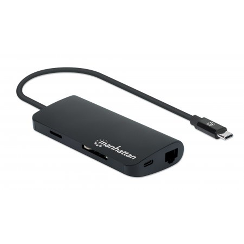 SuperSpeed USB-C Multiport Adapter Black, 110 (L) x 45 (W) x 18 (H) [mm]
