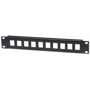 "10"" Blank Patch Panel Black"