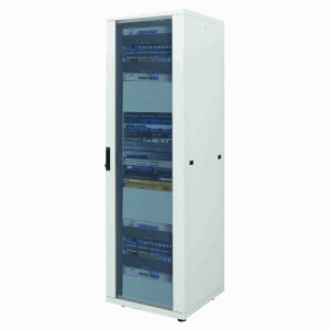 "19"" Network Cabinet, 42U,  IP20-rated housing, Flatpack, Gray"