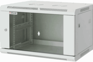 "19"" Wallmount Cabinet Gray RAL7035, 370 x 570 x 450 (mm)"