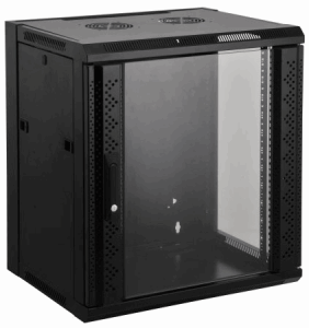 "19"" Wallmount Cabinet Black RAL9005, 635 x 570 x 600 (mm)"