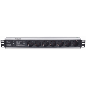 "19"" 1.5U Rackmount 7-Way Power Strip - German Type"