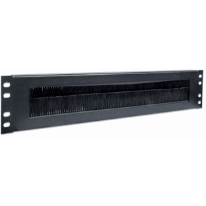 "19"" Cable Entry Panel Black RAL9005, 15 (L) x 483 (W) x 88 (H) [mm]"