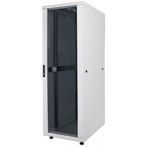 "19"" Network Cabinet, 16U, IP20-rated housing, Assembled, Gray"
