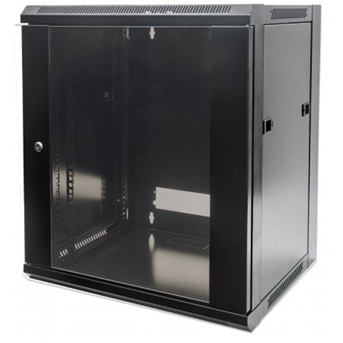 "19"" Wallmount Cabinet Black RAL9005, 770 x 570 x 600 (mm)"