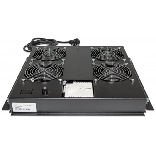 "4-Fan Ventilation Unit for 19"" Racks Black RAL9005"