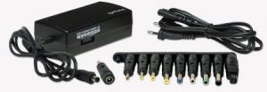 Universal Notebook Power Adapter Black, 115 (L) x 58 (W) x 36 (H) [mm]