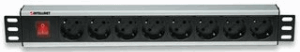"19"" Rackmount 8-Way Power Strip - German Type"