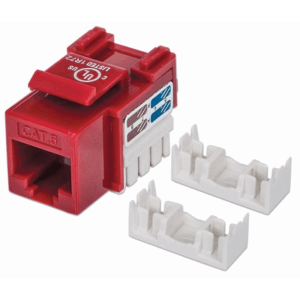 Cat6 Keystone Jack Red