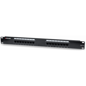 Cat6 Patch Panel, 16-Port, UTP, 1U