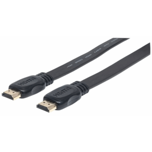 Flat High Speed HDMI Cable with Ethernet Black, 1 m