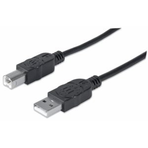 Hi-Speed USB B Device Cable Black, 1 m