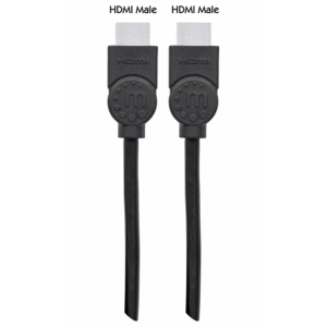 High Speed HDMI Cable with Ethernet  Black, 2 m