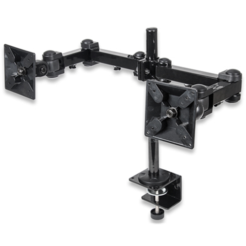 LCD Monitor Mount with Double-Link Swing Arms Black,