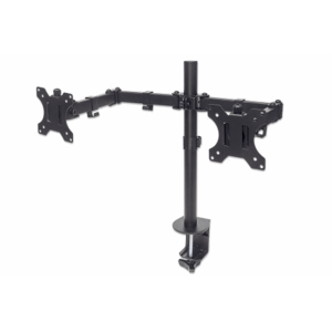 Universal Dual Monitor Mount with Double-Link Swing Arms