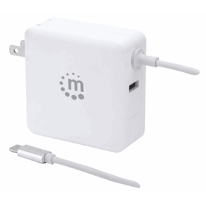 Power Delivery Wall Charger with Built-in USB-C Cable - 60 W White