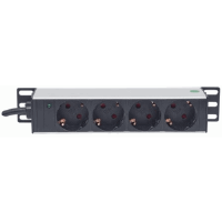 "10"" 1U Rackmount 4-Way Power Strip - German Type"