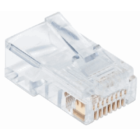 100-Pack Cat5e RJ45 Modular Plugs Pro Line, UTP, 3-prong, for solid wire, 100 plugs in jar