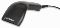 Contact CCD Barcode Scanner Black, 18 x 8 x 6.35 cm